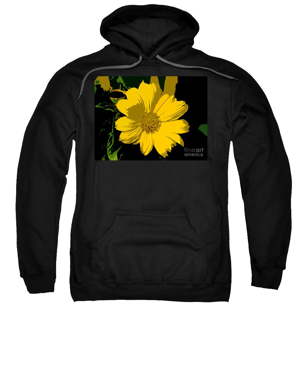 Flower Sweatshirt featuring the photograph Yellow Sunshine Work Number 8 by David Lee Thompson