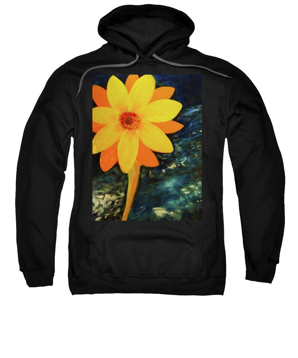 Yellow Sweatshirt featuring the painting Yellow Treat by John Scates