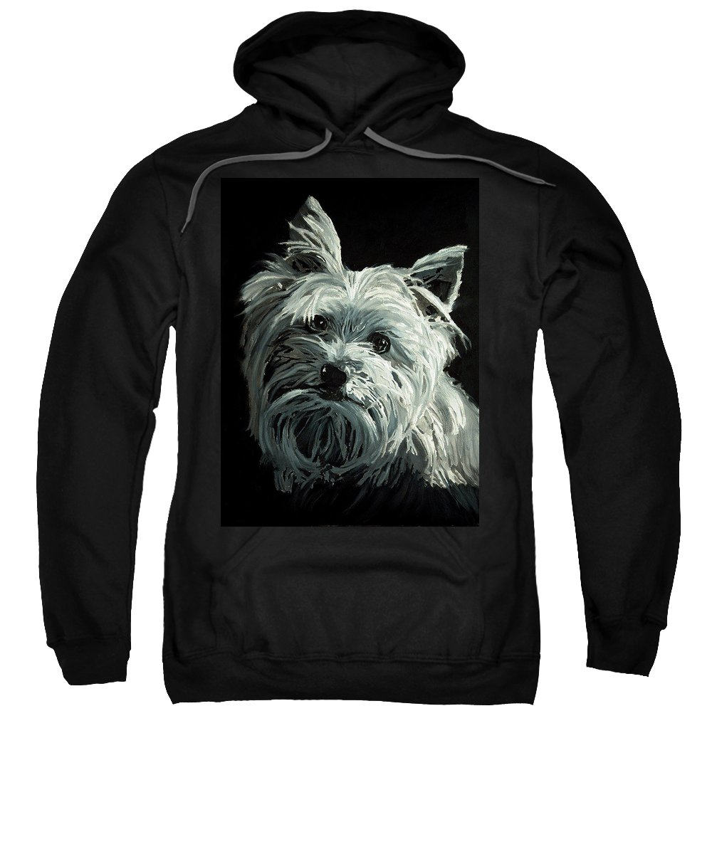 Animals Sweatshirt featuring the painting Yorkie by Portraits By NC