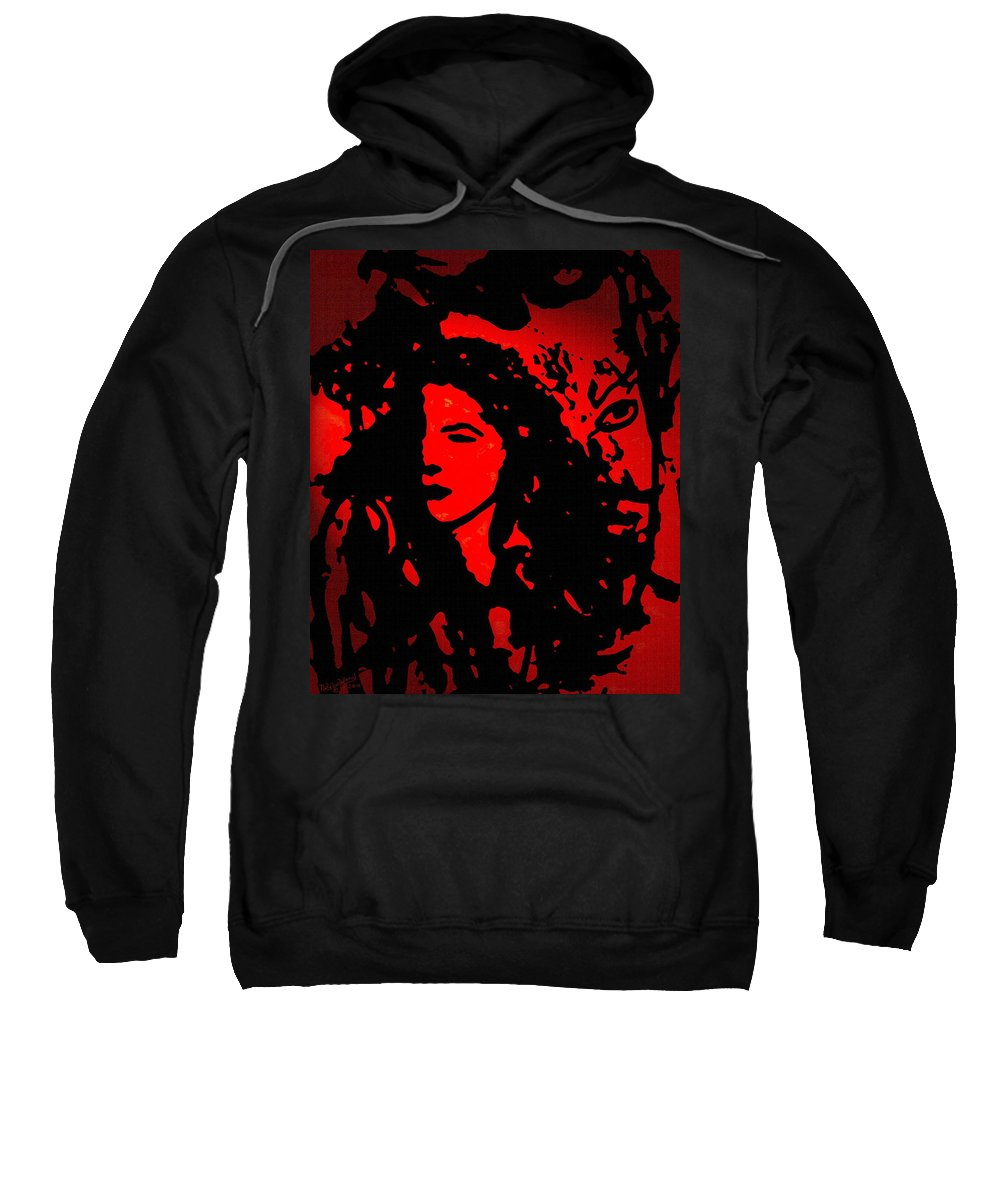 Expressionism Sweatshirt featuring the mixed media You And I by Natalie Holland