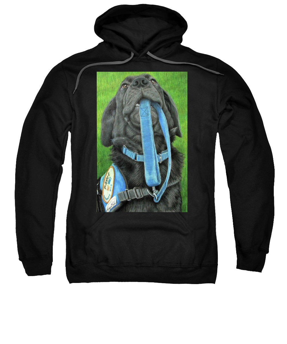 Beverly-fuqua Artwork Sweatshirt featuring the drawing You Called by Beverly Fuqua