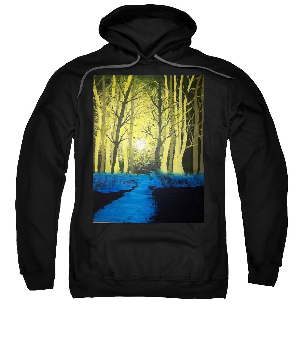 Forest Sweatshirt featuring the painting You Cant See The Forest For The Trees by Laurie Kidd