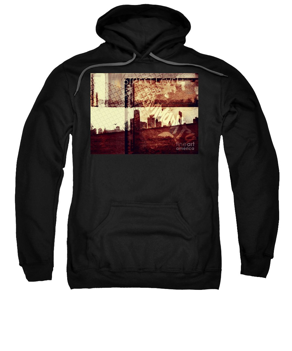 Chicago Sweatshirt featuring the photograph You Held My Hand Softly Through The Humid Summer Streets by Dana DiPasquale