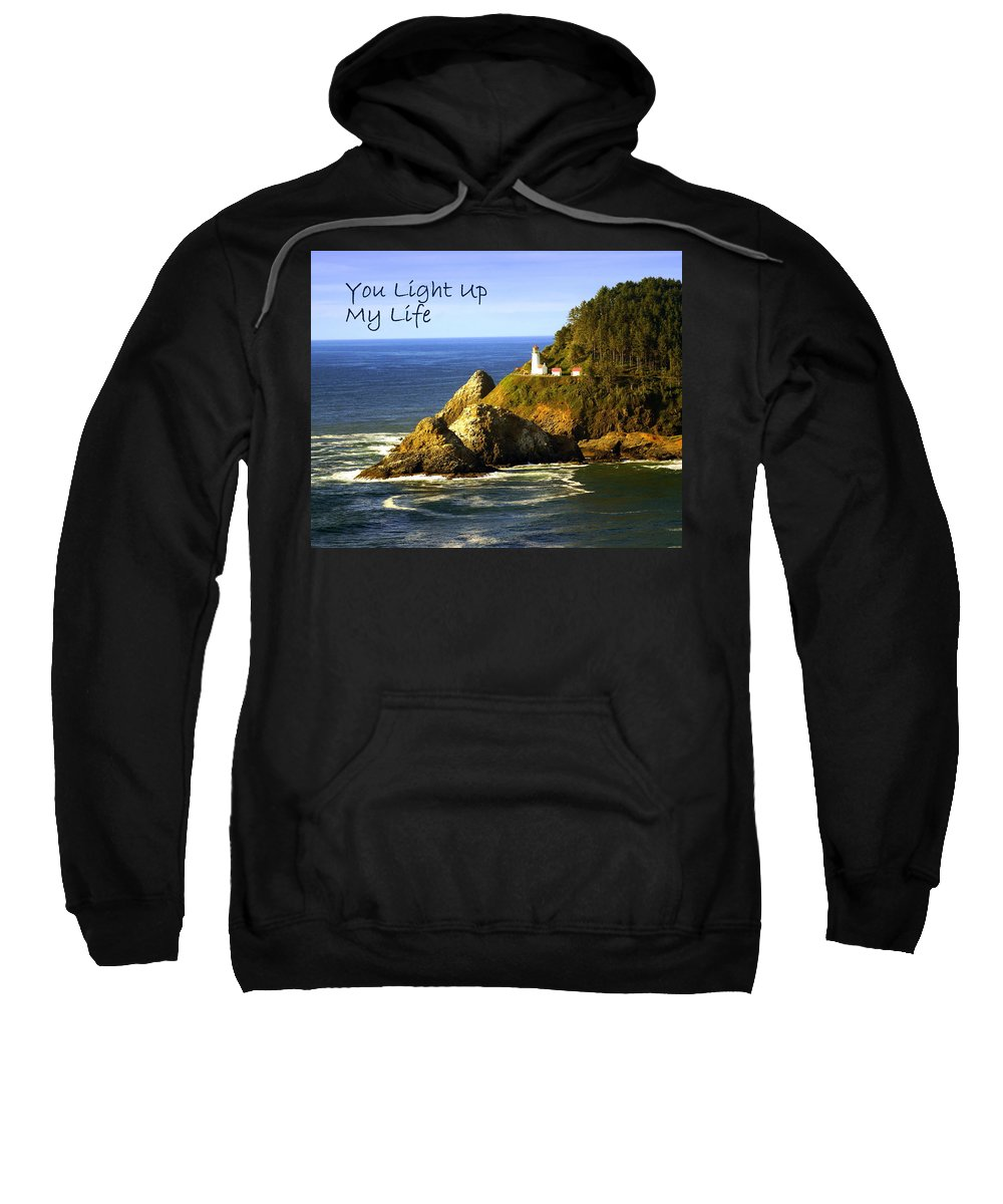 Photo Greeting Card Sweatshirt featuring the greeting card You Light Up My Life 1 by Marty Koch
