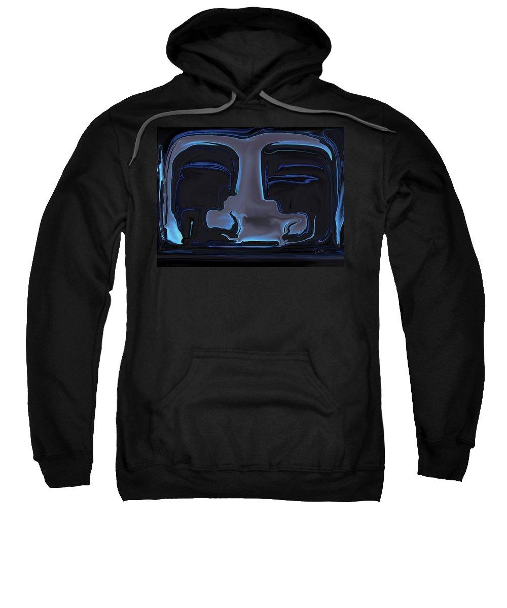 Black Sweatshirt featuring the digital art You N Me by Rabi Khan