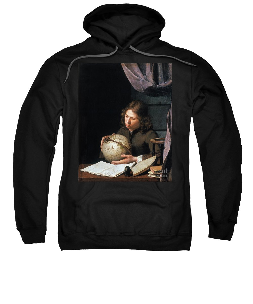 Astronomer Sweatshirt featuring the photograph Young Astronomer by Granger