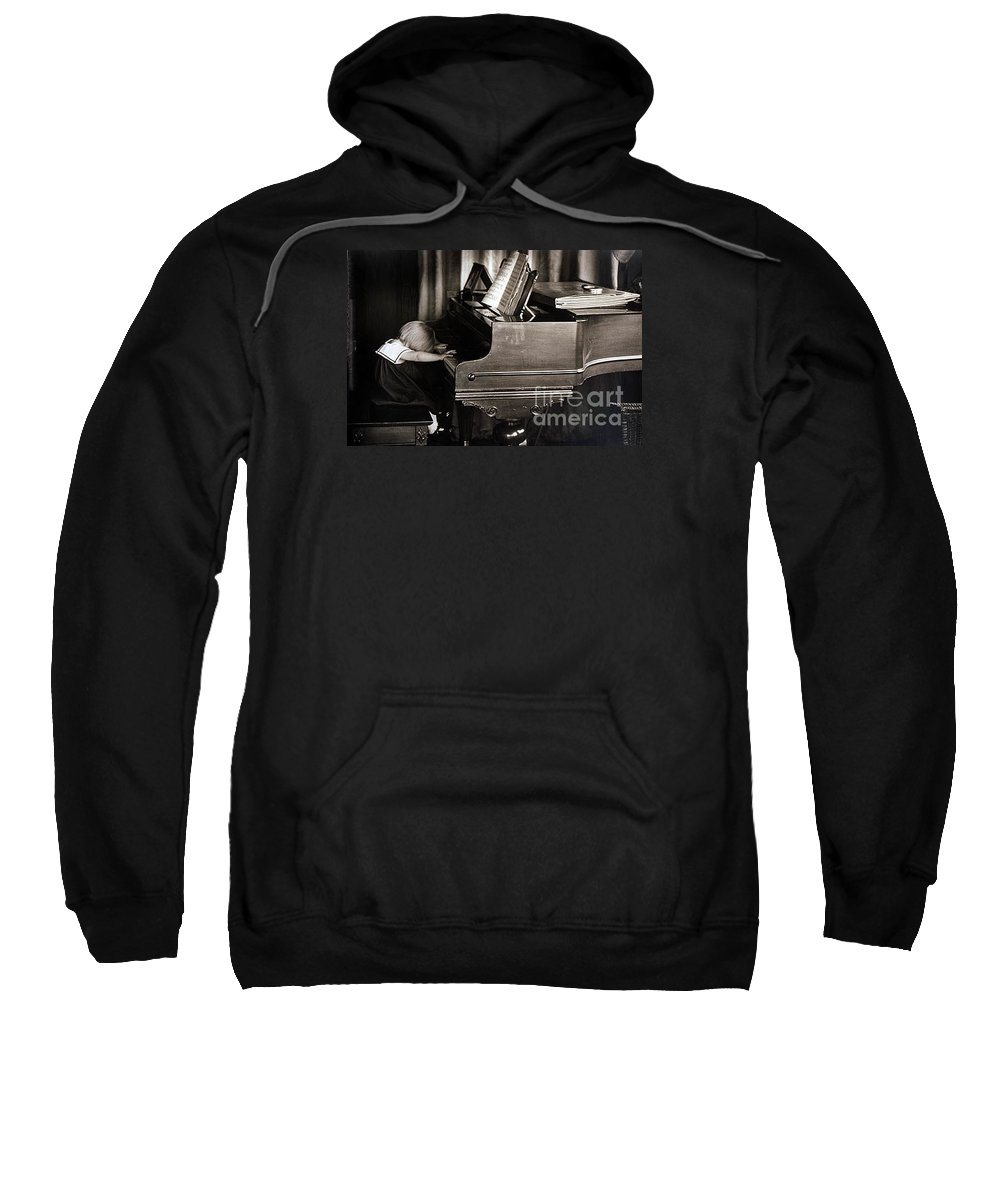 Piano Sweatshirt featuring the photograph Young Beethoven by Michael Ziegler