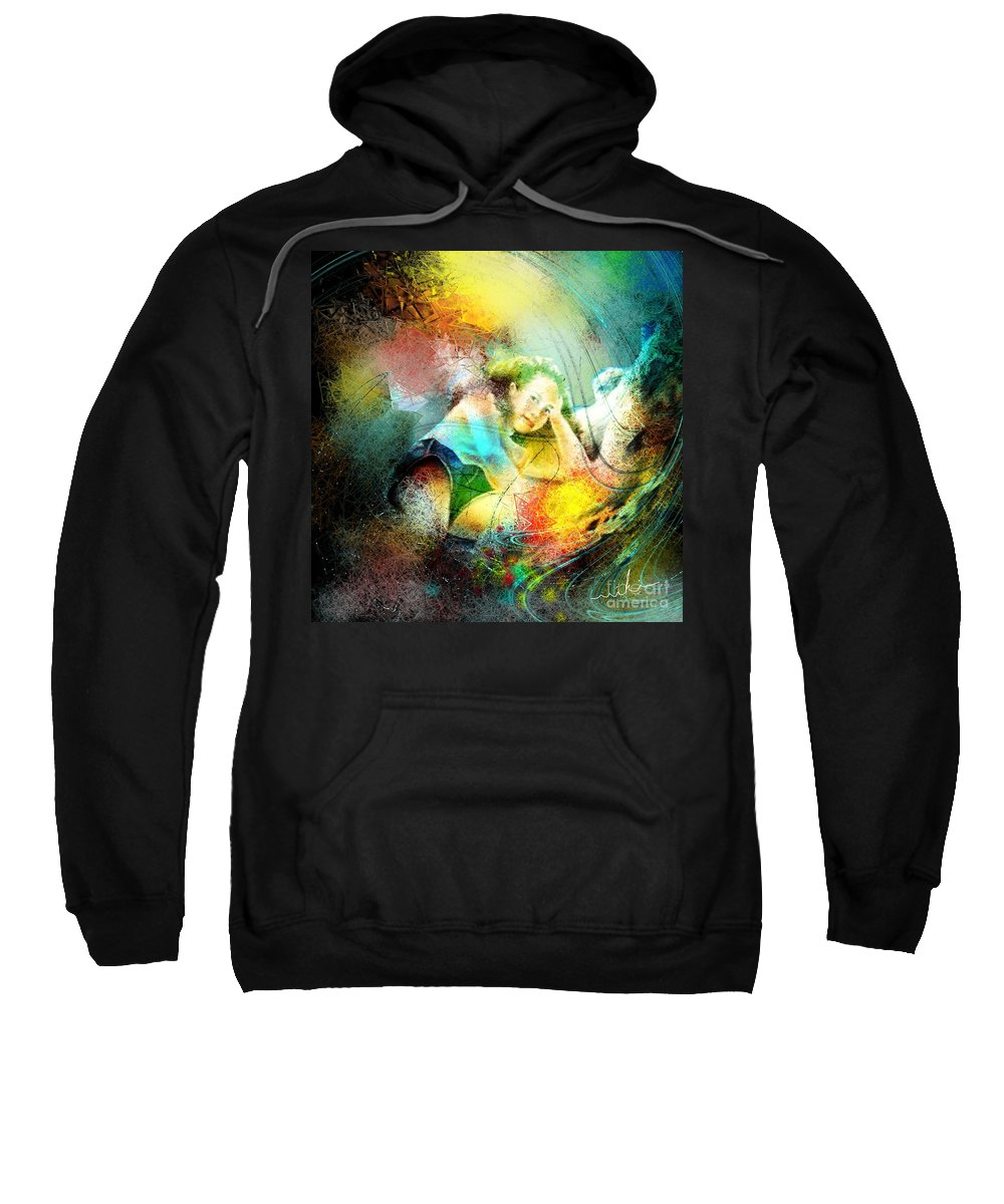 Nature Sweatshirt featuring the painting Young Seduction by Miki De Goodaboom
