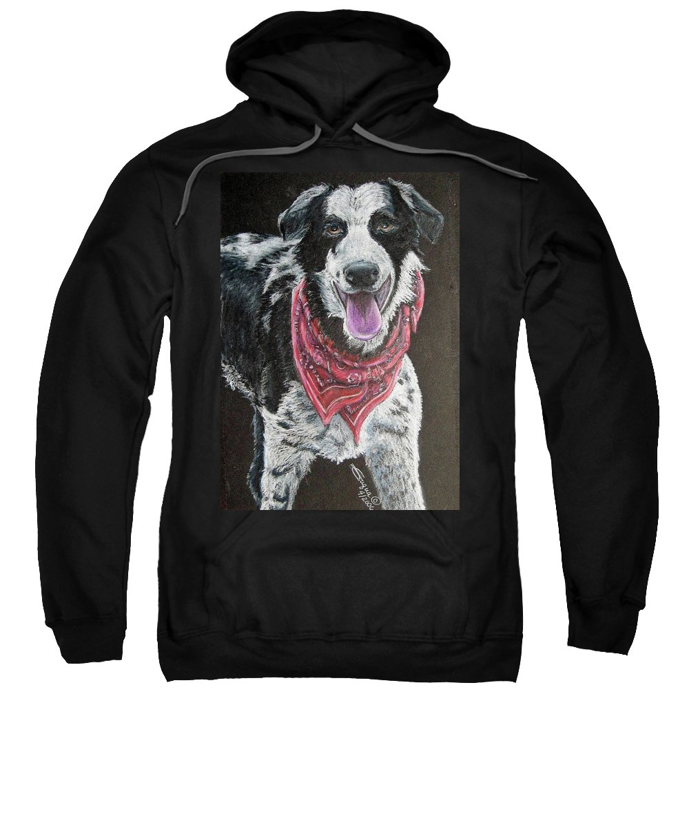 Fuqua - Artwork Sweatshirt featuring the drawing Zack by Beverly Fuqua