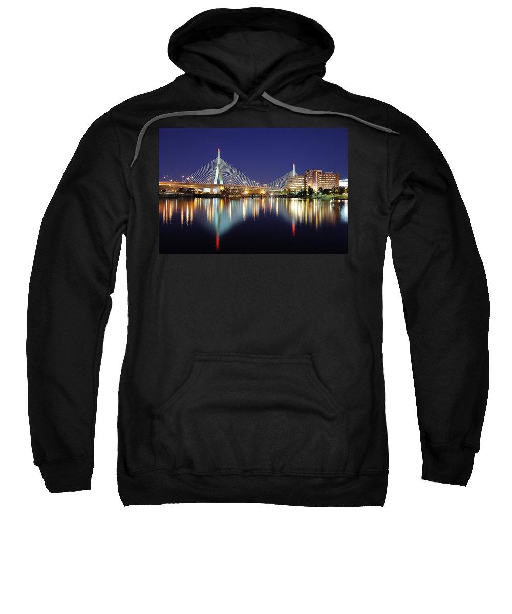 Boston Sweatshirt featuring the photograph Zakim Aglow by Rick Berk