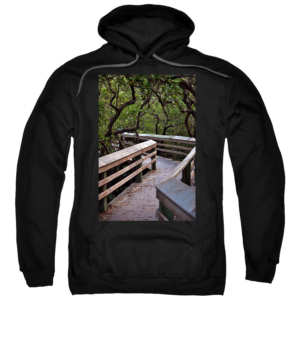 John Knapko Sweatshirt featuring the photograph Zig Zag by John Knapko