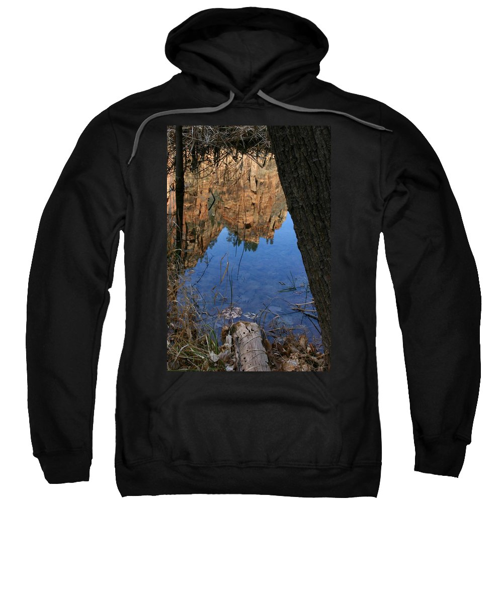 Zion Sweatshirt featuring the photograph Zion Reflections by Nelson Strong