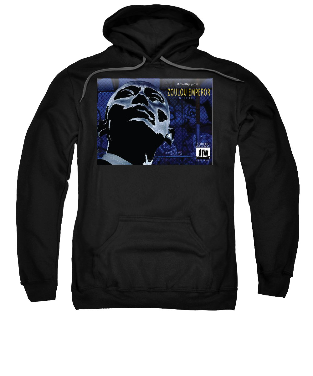 Poster Sweatshirt featuring the photograph Zoulou Emperor by Line Gagne