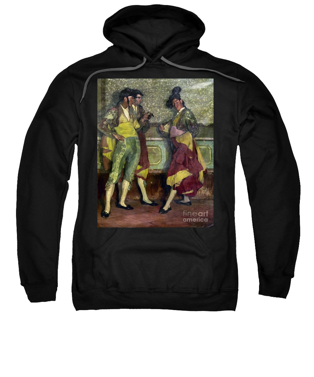1913 Sweatshirt featuring the photograph Zuloaga: Bullfighters by Granger
