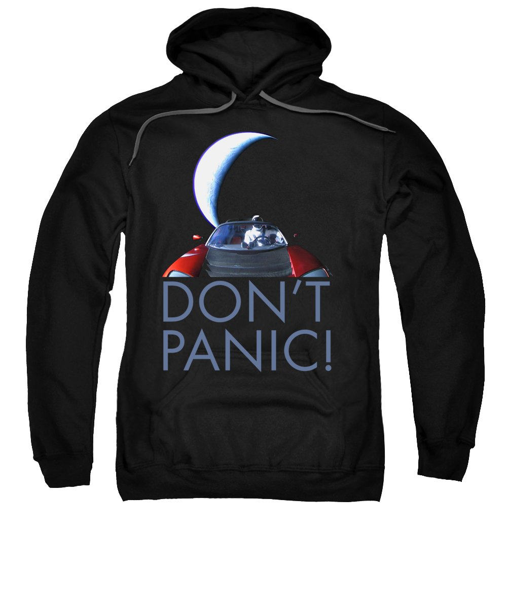 Dont Panic Sweatshirt featuring the photograph Don't Panic Starman by Filip Hellman