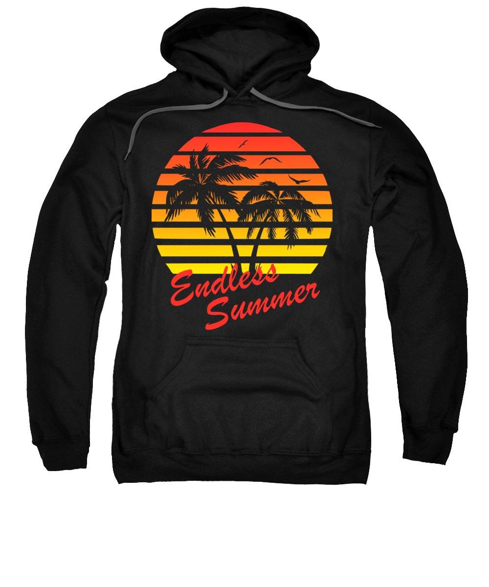 Sunset Sweatshirt featuring the digital art Endless Summer by Filip Schpindel