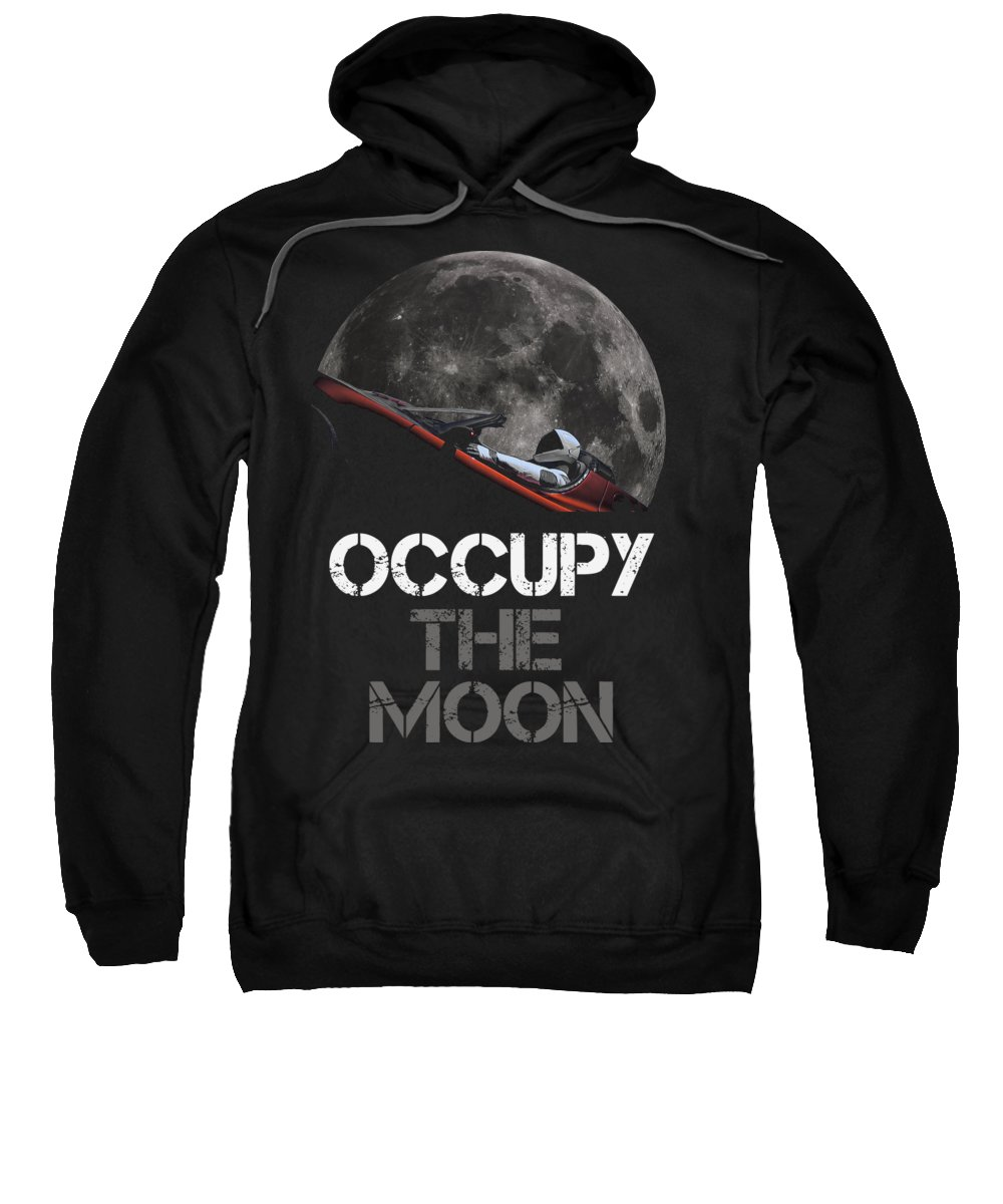Dont Panic Sweatshirt featuring the photograph Occupy The Moon by Filip Hellman