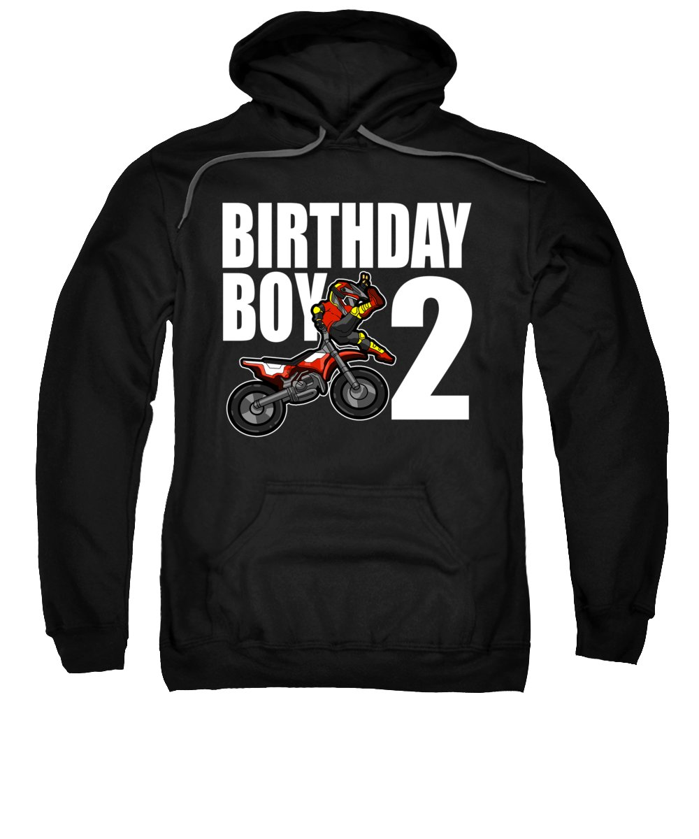 2 Years Old Sweatshirt featuring the digital art 2 Years Old Dirt Bike Party Motocross Mx Gift 2nd by J M