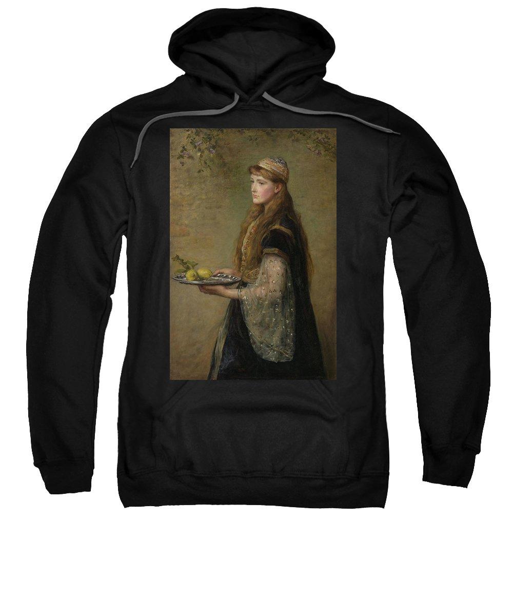 British Sweatshirt featuring the painting The Captive by John Everett Millais