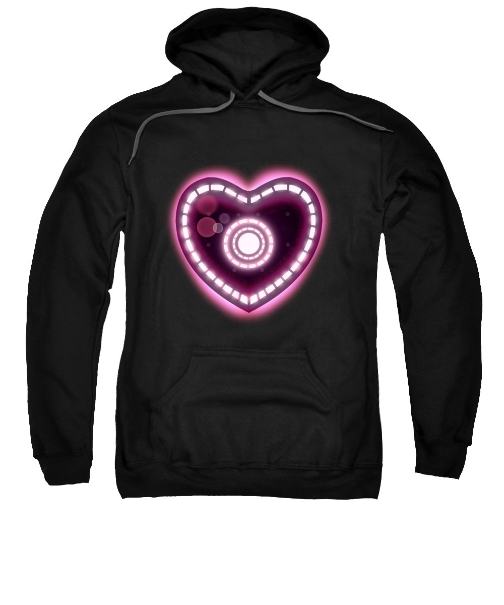 Love Sweatshirt featuring the drawing 3000 by Ludwig Van Bacon