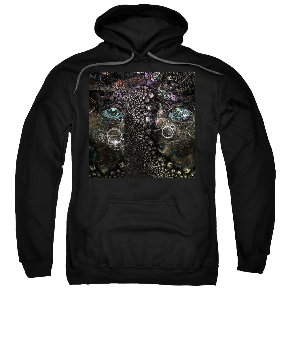 Abstract Sweatshirt featuring the digital art Abstract Eye by Bruce Rolff