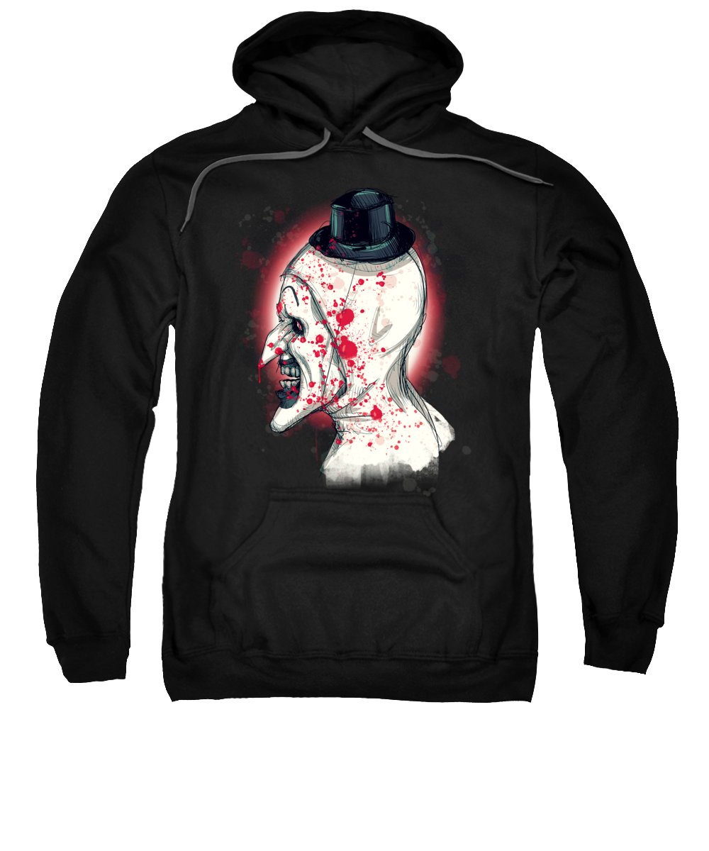 Art The Clown Sweatshirt featuring the drawing Art The Clown by Ludwig Van Bacon