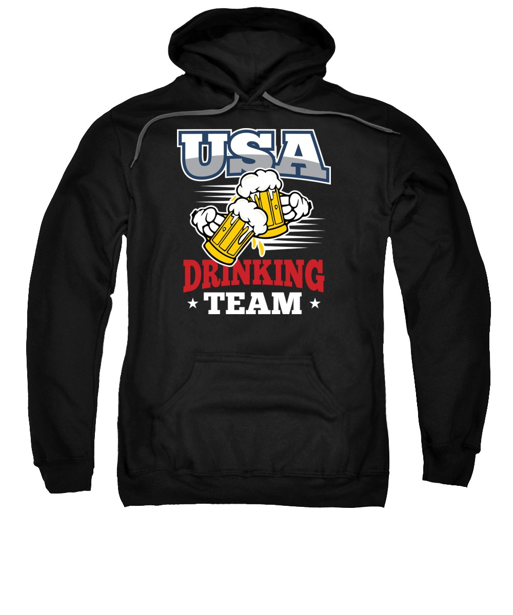 Drinking-team-usa Sweatshirt featuring the digital art Bachelor Party Usa Drinking Team Beer Party Cheers Gift by Haselshirt