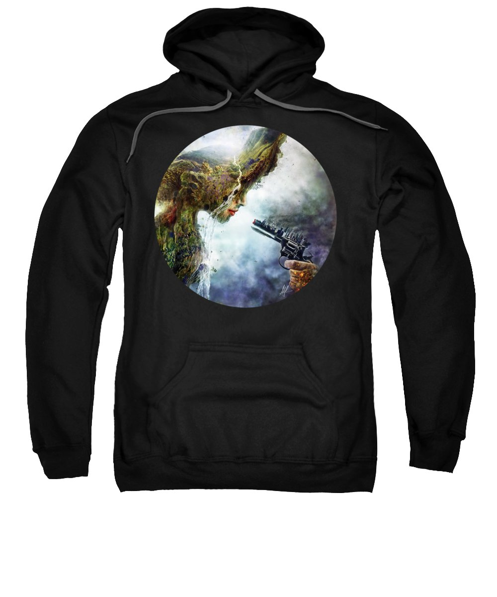 Betrayal Sweatshirt featuring the digital art Betrayal by Mario Sanchez Nevado
