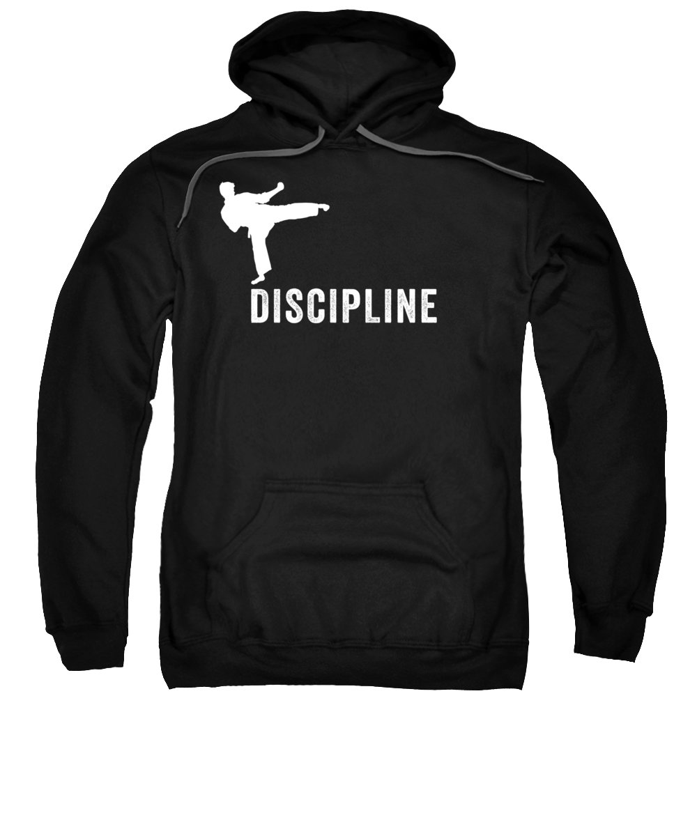 Funny Sweatshirt featuring the digital art Discipline Material Arts by Crypto Keeper