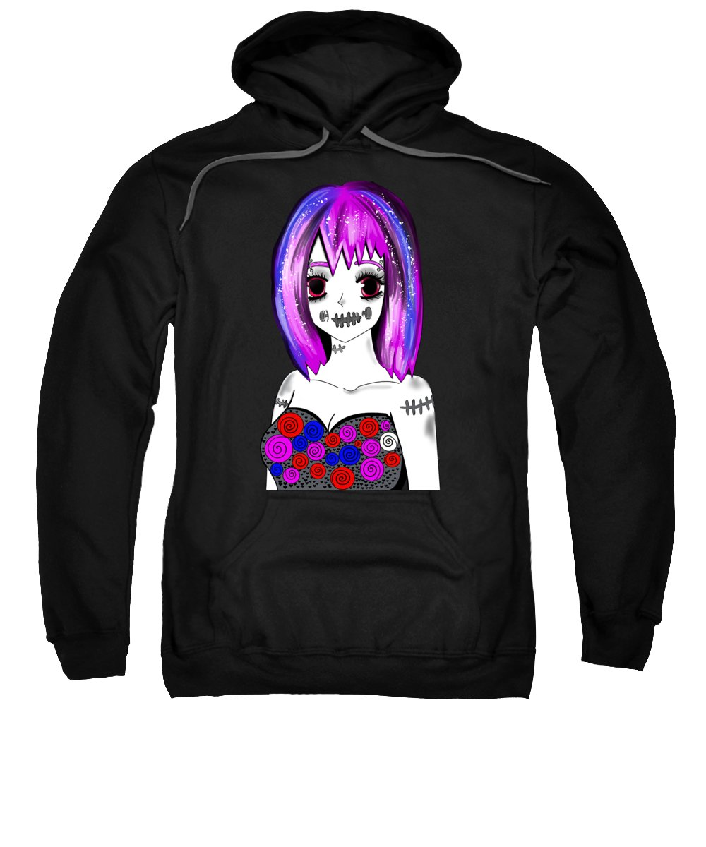 Anime Accessories Sweatshirt featuring the digital art Girl 2shirt2 by Kaylin Watchorn