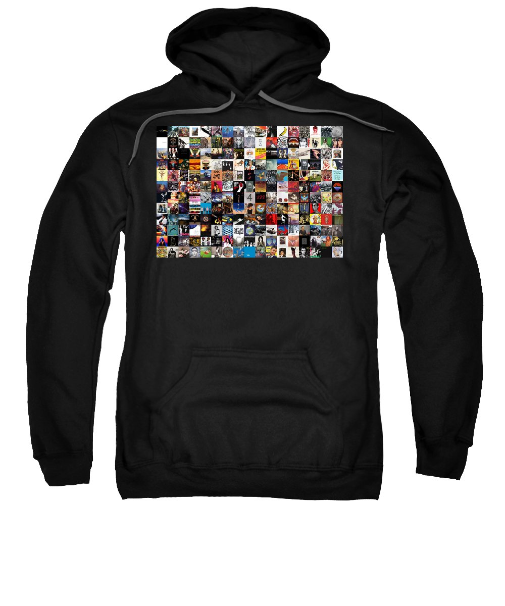 Album Covers Sweatshirt featuring the digital art Greatest Album Covers of All Time by Zapista OU