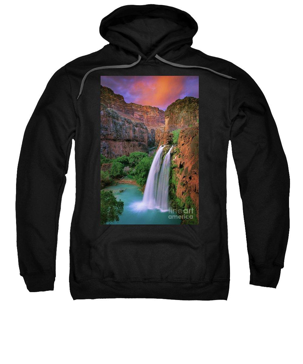 America Sweatshirt featuring the photograph Havasu Falls by Inge Johnsson