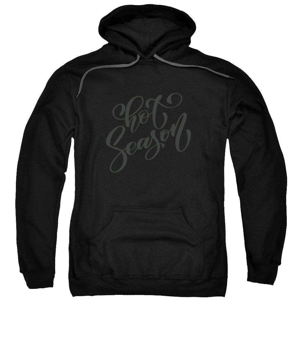 Women Sweatshirt featuring the digital art Hot Season by Passion Loft