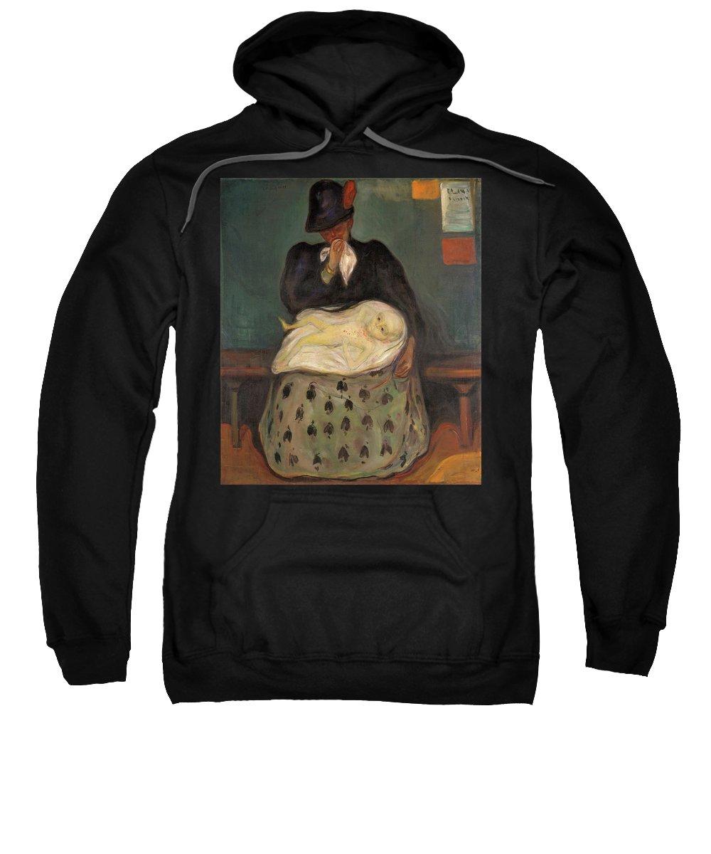 Edvard Munch Sweatshirt featuring the painting Inheritance - Digital Remastered Edition by Edvard Munch