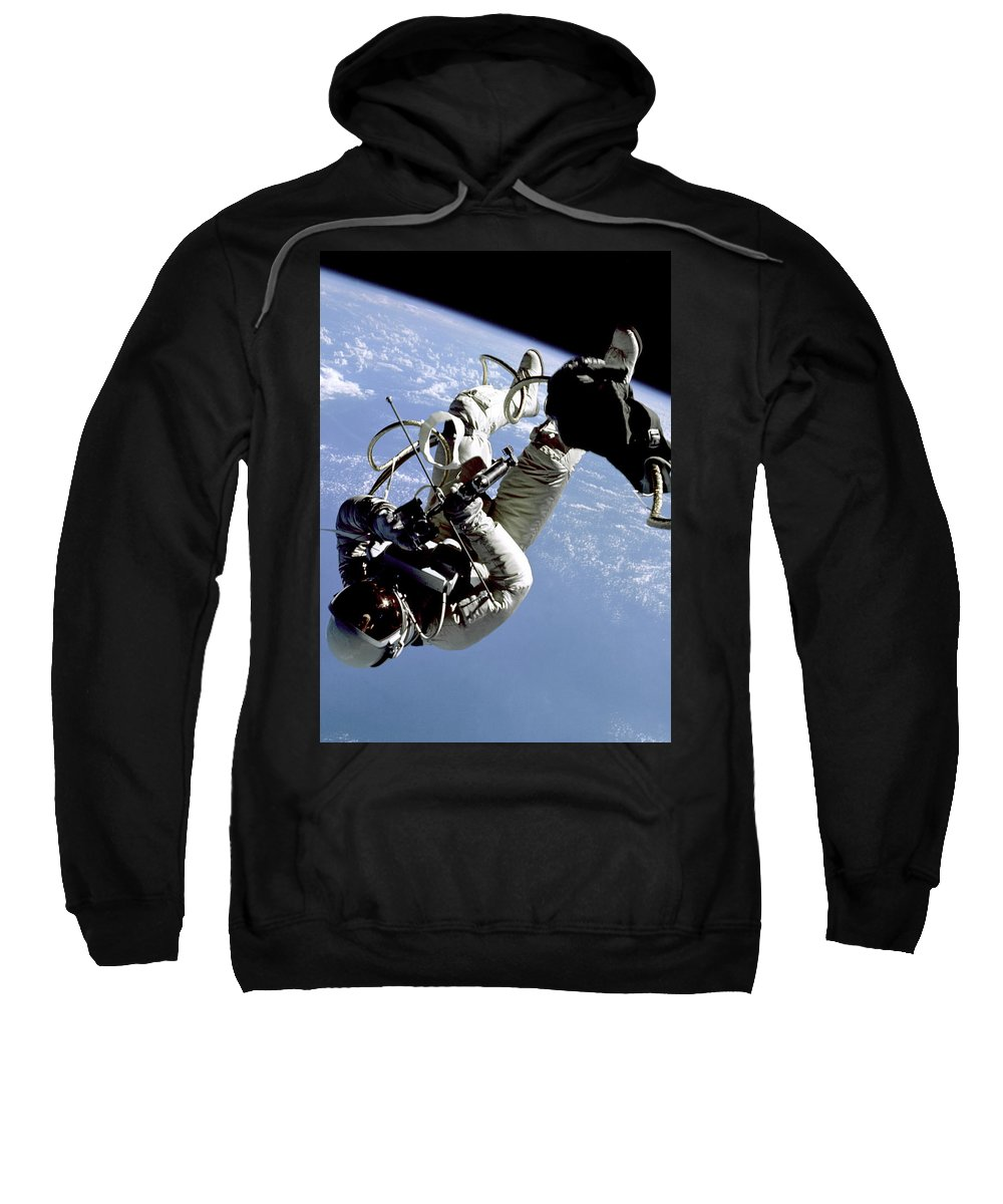 Space Sweatshirt featuring the digital art Just Another Day At Work by Filip Hellman