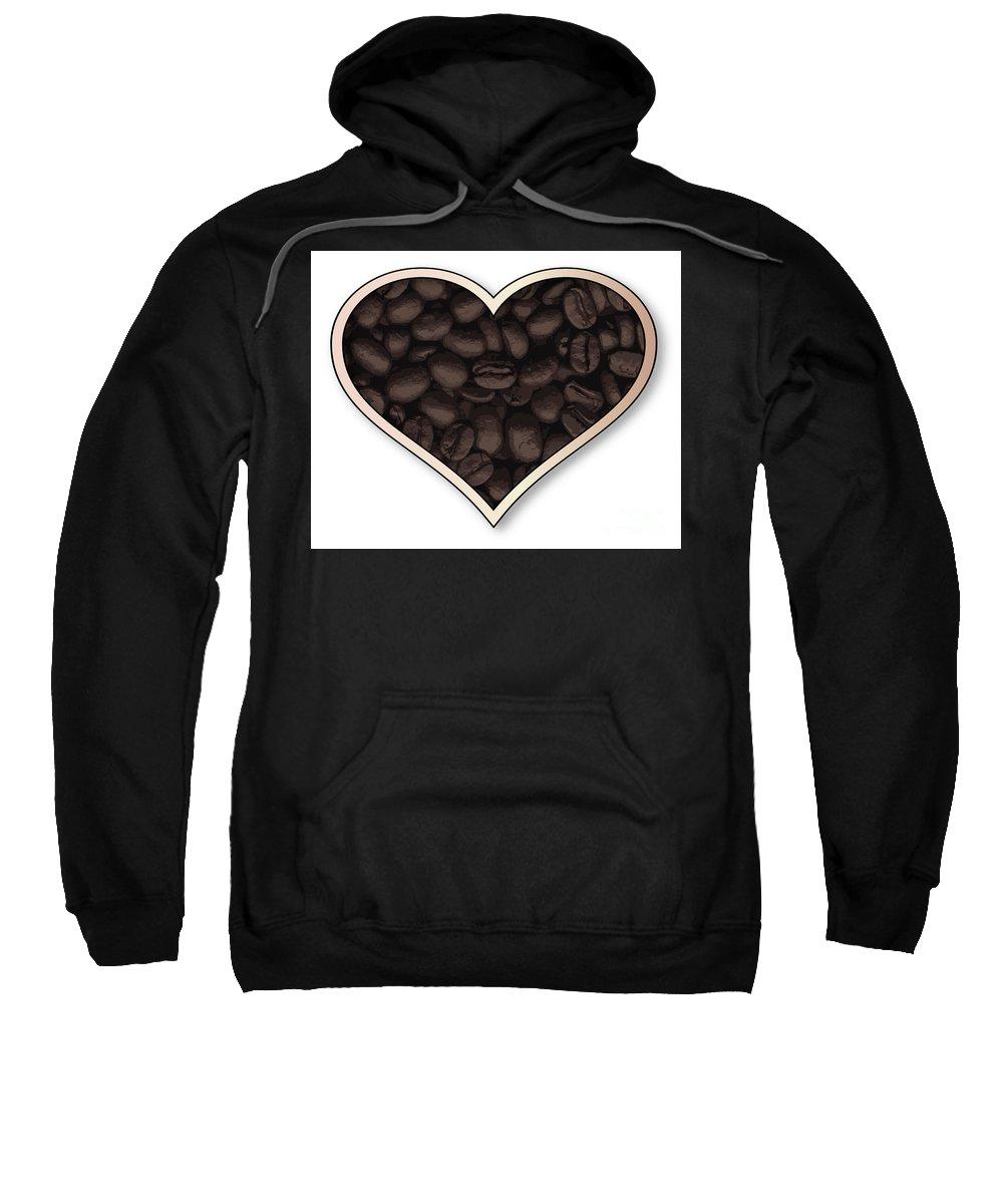 Love Sweatshirt featuring the digital art Love Coffee by Bigalbaloo Stock