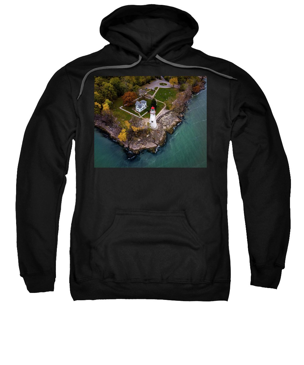 Lighthouse Sweatshirt featuring the photograph Marblehead Lighthouse Fall by Andrew Cross