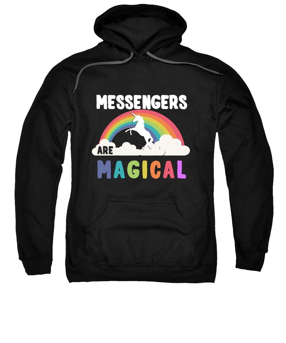 Unicorn Sweatshirt featuring the digital art Messengers Are Magical by Flippin Sweet Gear
