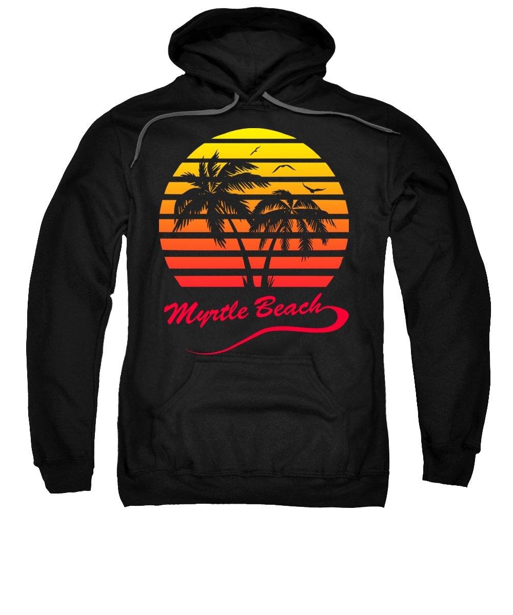 Myrtle Beach Sweatshirt featuring the digital art Myrtle Beach Sunset by Filip Schpindel