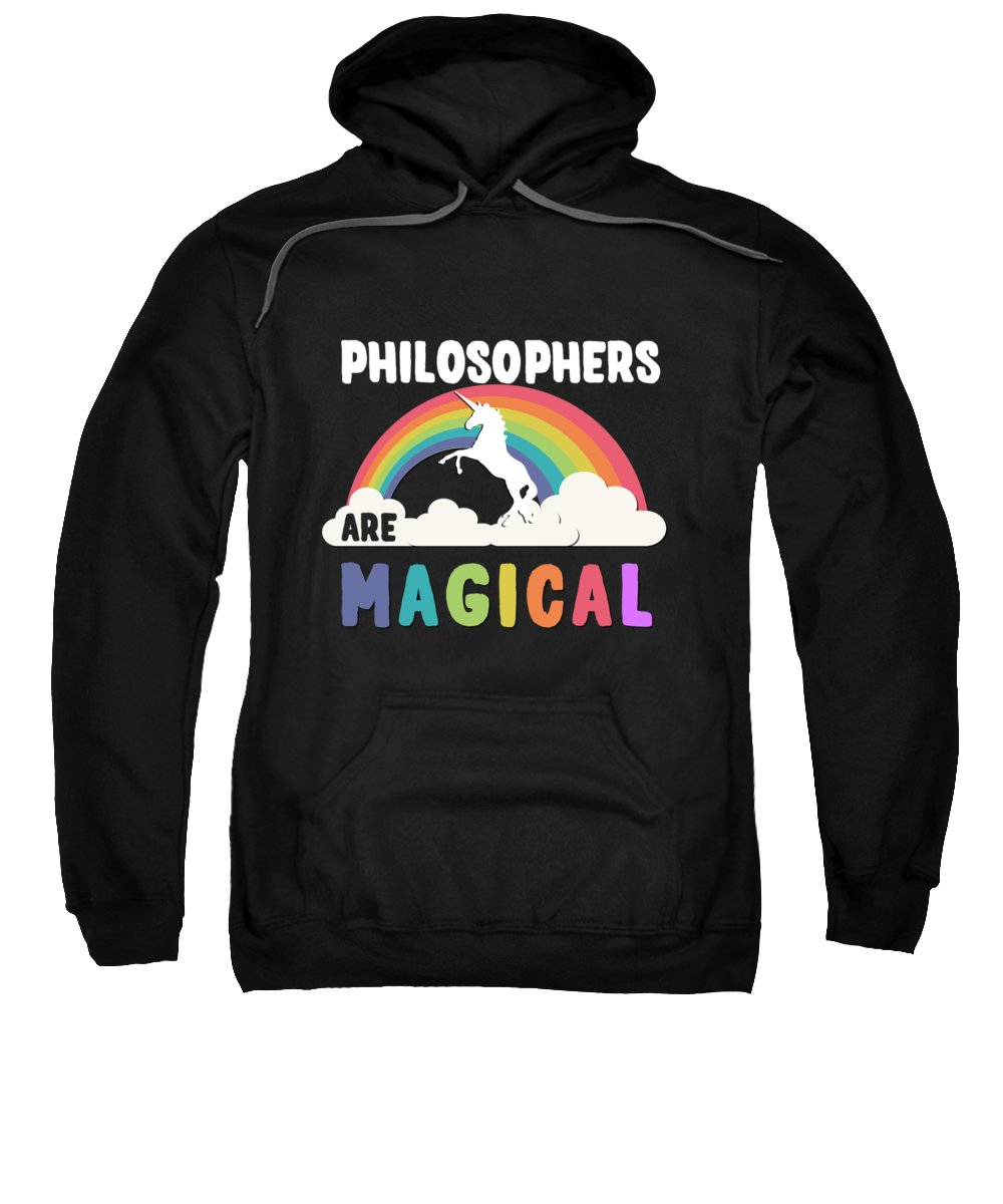 Unicorn Sweatshirt featuring the digital art Philosophers Are Magical by Flippin Sweet Gear