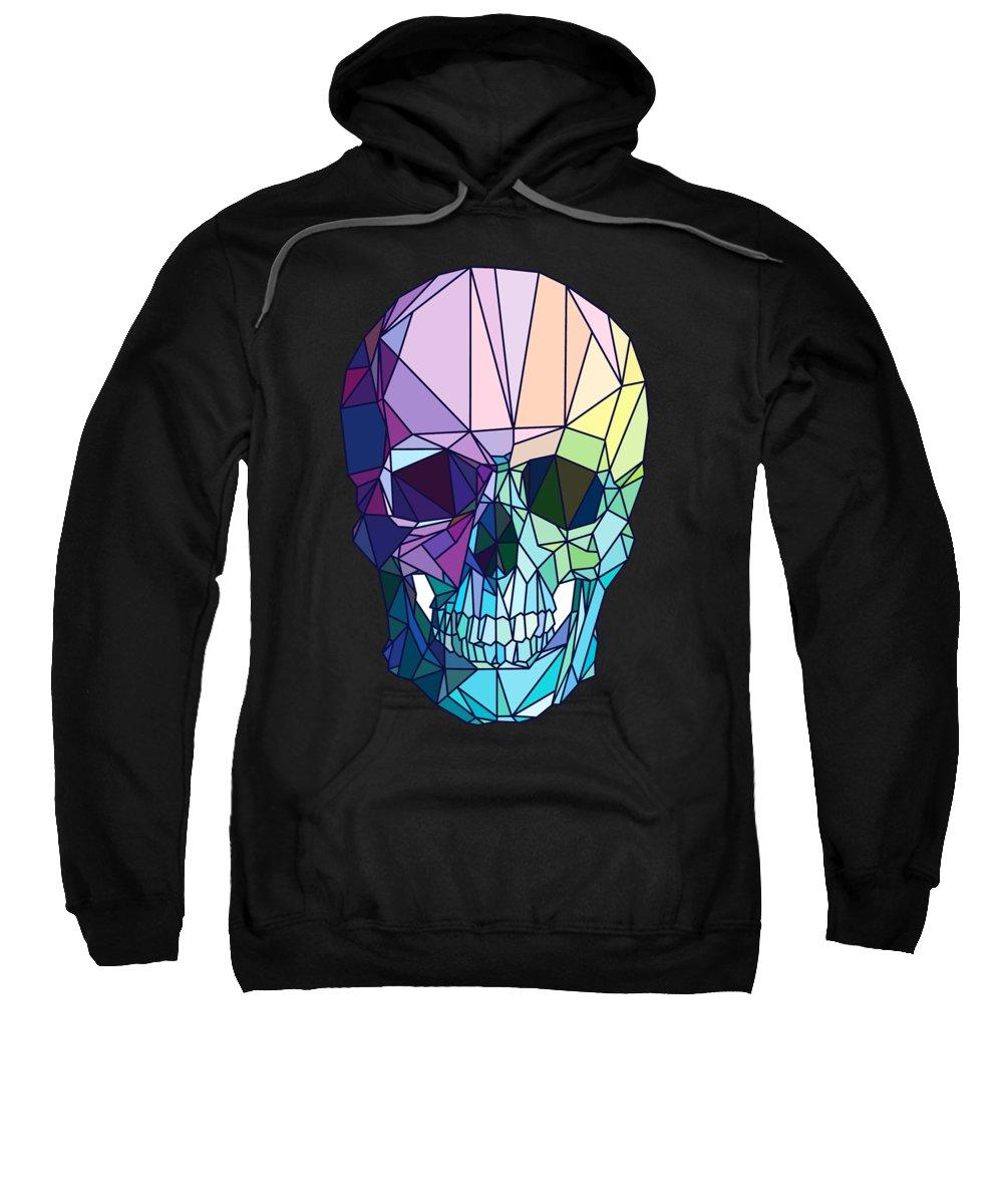 Scary Sweatshirt featuring the digital art Skull On Colors by Mark Ashkenazi