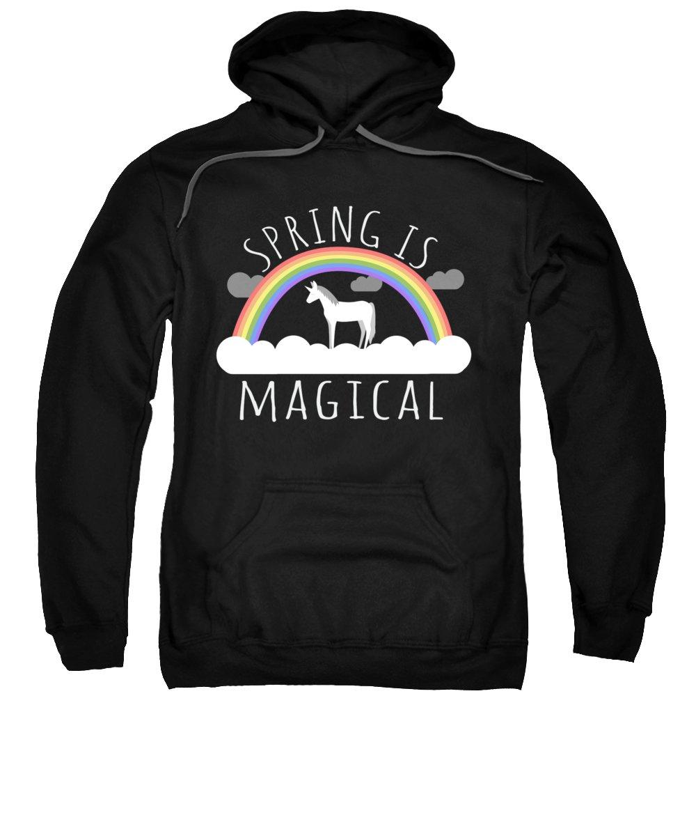Unicorn Sweatshirt featuring the digital art Spring Is Magical by Flippin Sweet Gear