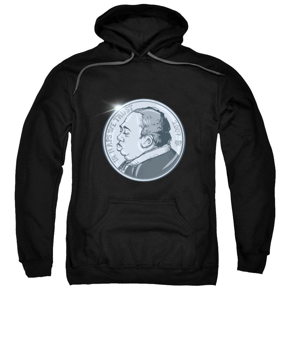 Stanley Nickel Sweatshirt featuring the drawing Stanley Nickel by Ludwig Van Bacon