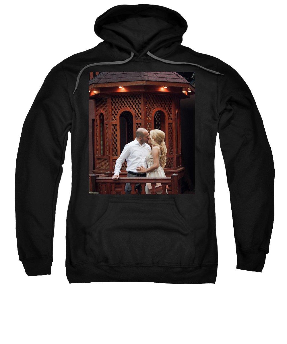 Love Sweatshirt featuring the pyrography Sweet Romance by Bekir Lukac