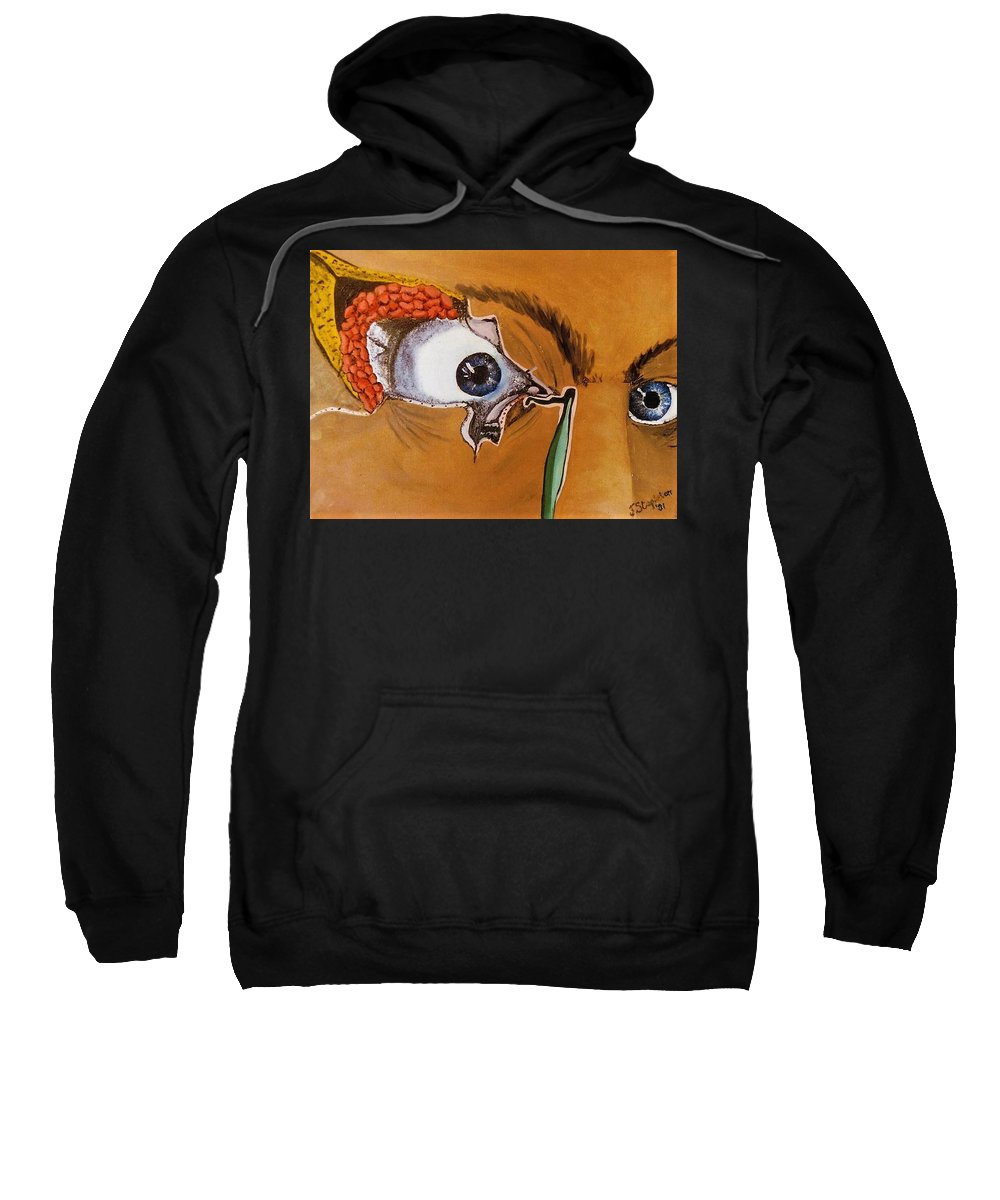 Inside Tear Duct Sweatshirt featuring the painting Tear Duct by Joan Stratton
