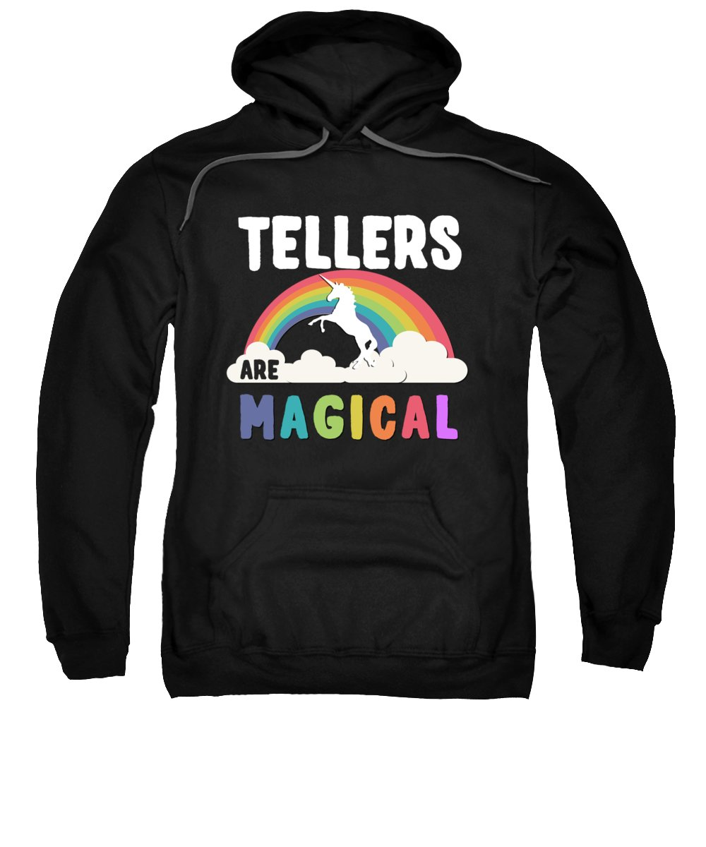 Unicorn Sweatshirt featuring the digital art Tellers Are Magical by Flippin Sweet Gear