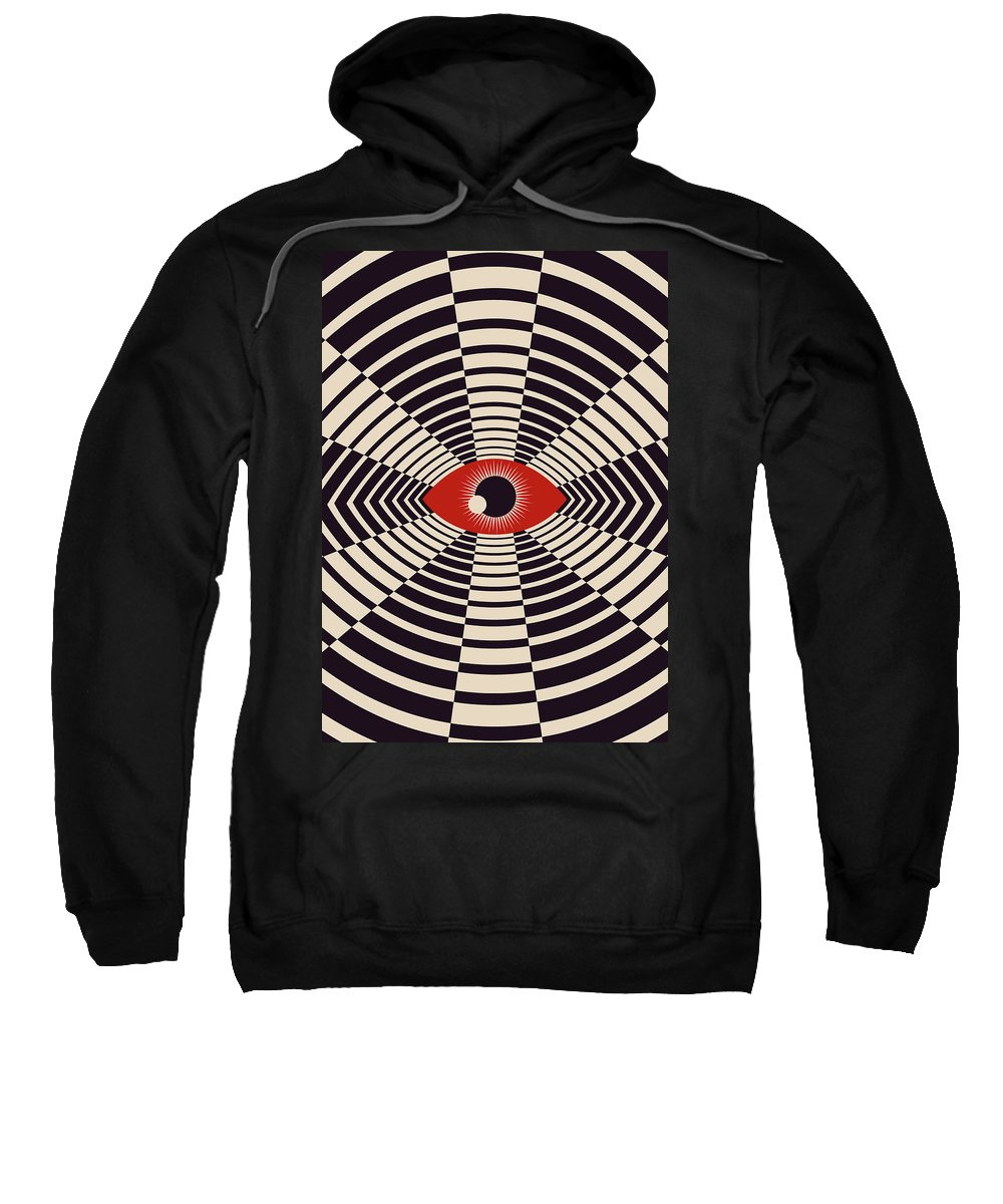 Digital Sweatshirt featuring the digital art The All Gawking Eye by Nicholas Ely