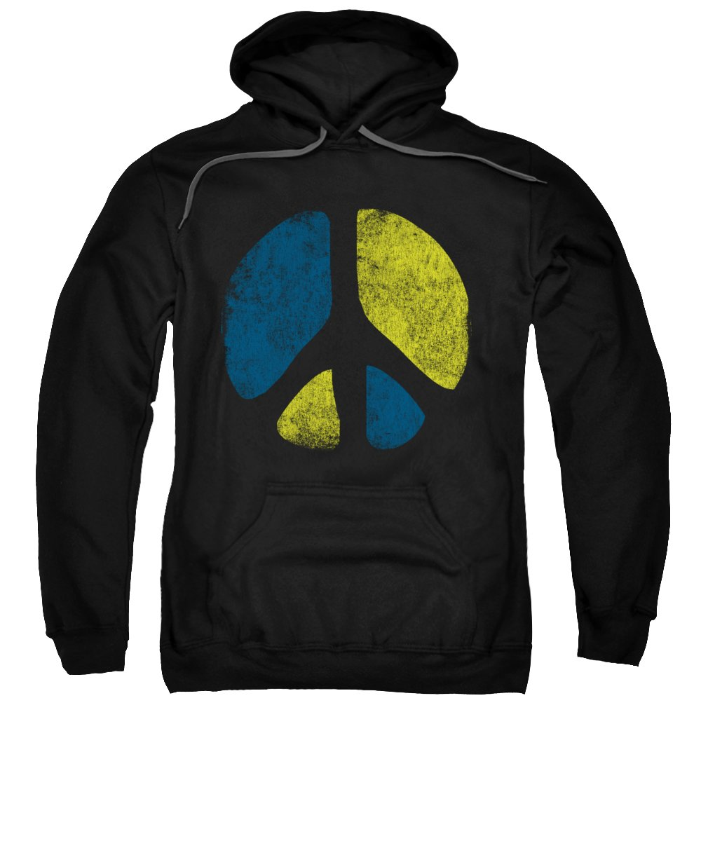 Cool Sweatshirt featuring the digital art Vintage Peace Sign by Flippin Sweet Gear