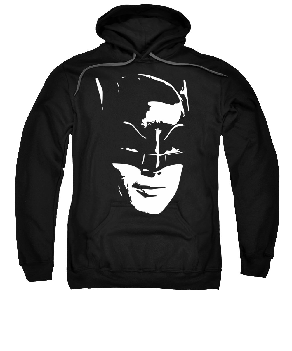 Batman Sweatshirt featuring the digital art West In Costume Pop Art by Filip Hellman
