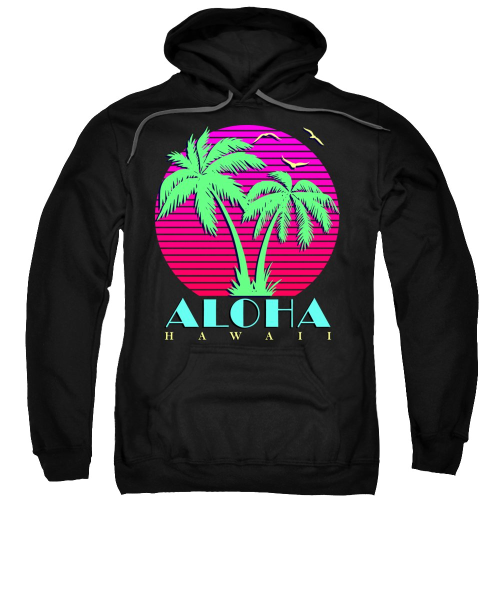 Classic Sweatshirt featuring the digital art Aloha Hawaii by Filip Schpindel